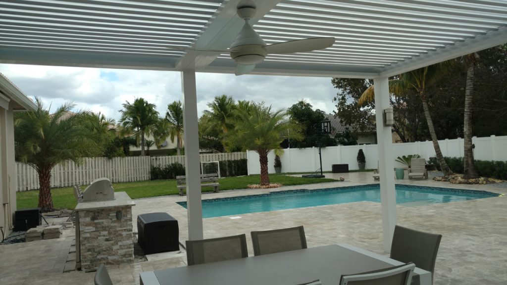 Attached Louvered Roofs North Miami Luxury Louvered
